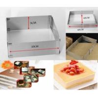 Nomnom Ayarlanabilir Paslanmaz Kare Dikdörtgen Pasta Kek Börek Kalıbı 20Cm İle 40Cm Arası