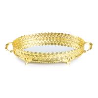 LoveQ Oval Tepsi Hasır Altın
