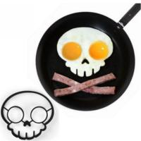 Om Silikon Yumurta Pişirme Kalıbı Crossbone Kurukafa Kafatası Model