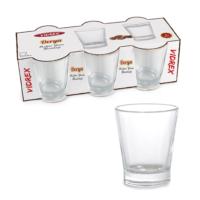 Vidrex Derya Düz 6'lı Cam Kahve Yanı Bardağı