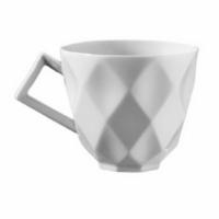 İkram Dünyası Kütahya Porselen Markiz Serisi Türk Kahvesi Fincanı Tabaklı 6'Lı Dekorsuz