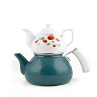 Esse Joie Çaydanlık-Porselen Demlik Turkuaz