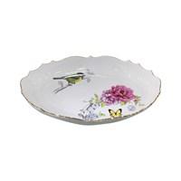 Fidex Home Kuşlu Oval Küçük Servis Tabağı