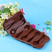 Bluezen Kaşık Şeklinde Silikon Çikolata Kalıbı 6'Lı Thn45101