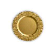 Kancaev Dekoratif Plastik Supla/Tabak Altlığı Bal Peteği - Altın 6'Lı Set