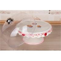 LoveQ Cupcake Serisi Seramik Büyük Boy Kek Fanusu 147349P