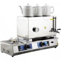 55 Model Üç Demlikli Tüplü Çay Kazanı 33Lt Çay Otomatı
