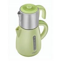 Arzum AR387 Akıllı Paslanmaz Çelik Demlikli Çay Makinesi Yeşil