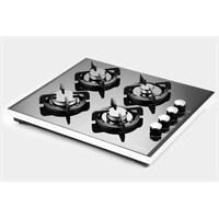 Luxell 40 TSHDF 4 Gözü Gazlı Siyah Cam Setüstü Ocak-Doğalgaz