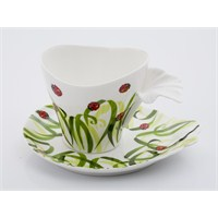 Narin Bone China Porselen Çay Fincanı