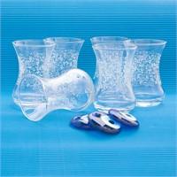 Joy Glass 6 Lı İnce Belli Şal Desen Çay Bardağı