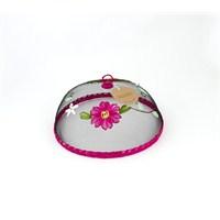 Kancaev Sineklik-Çiçekli Fuşya Bordürlü Küçük