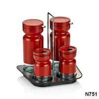 Neva N751 Sweet Kırmızı 4'Lü Baharat Seti