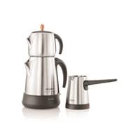 Arzum AR3007 Ehlikeyf Delux Çay Ve Kahve Robotu Seti (Mat Inox)