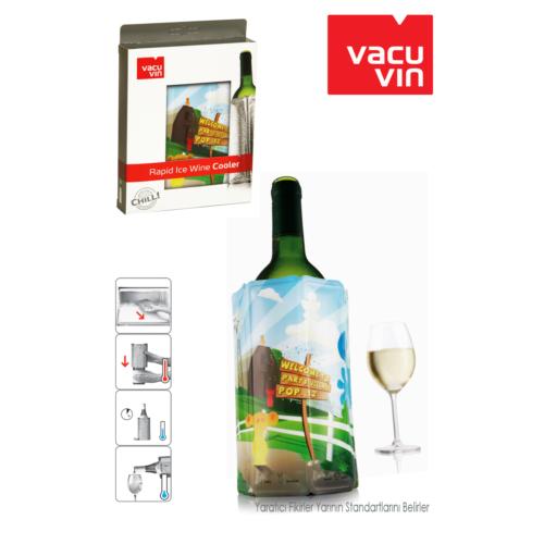 Vacu Vin Vacu Şarap Soğutucu Party Desenli