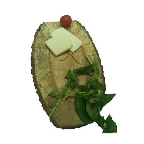Atölye2e Elips-Doğal Ağaç Dilimli Peynir Sunum Tahtası