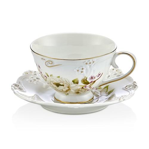Noble Life Krem Dantel 6Lı Çay Seti