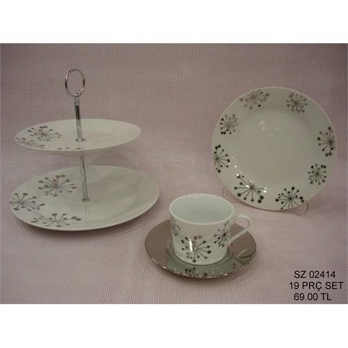 Fidex Home Porselentaşlı Kahvaltı Seti 19 Parça