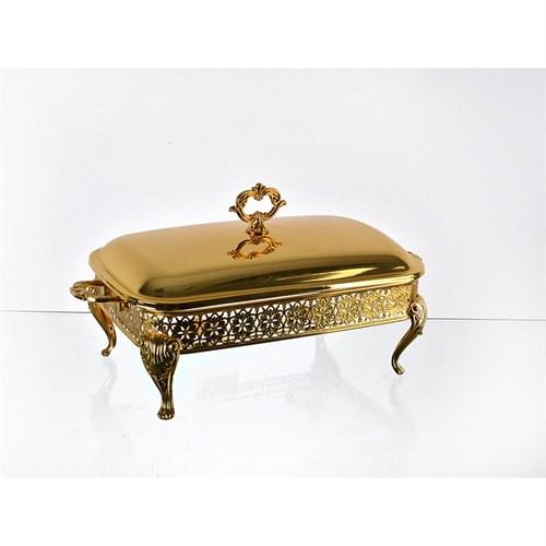 Lucky Art Gold Isıtıcılı Dikdörtgen Servislik