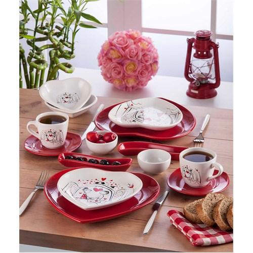 Keramika Keyfi Aşk Kahvaltı Seti