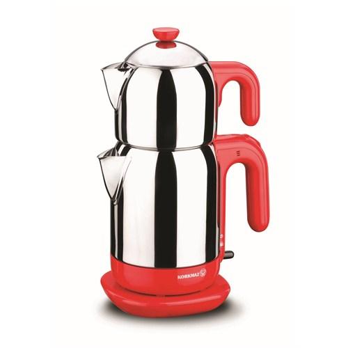 Korkmaz A 369-01 Demtez Elektrikli Çaydanlık Kırmızı