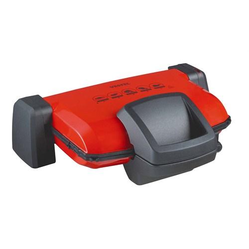 Vestel V-Brunch Serisi 2000 Kırmızı Izgara ve Tost Makinesi