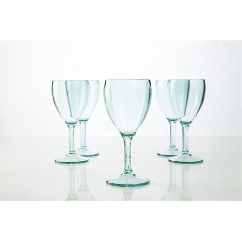 Plabar Kırılmaz Şarap Bardağı (Yeşil) 12Li