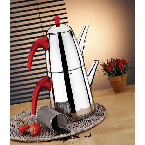 Aryıldız De Luxe Red Büyük Çaydanlık Takım