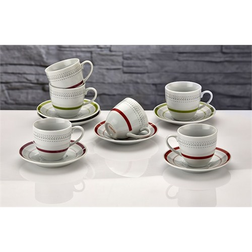 iHouse Shs01a-Türk Kahve Seti 6 Lı-Beyaz