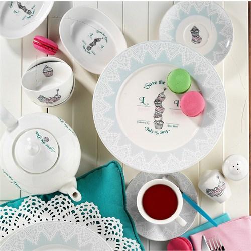 Kütahya Porselen 33 Parça 8364 Desen Cup Cake Kahvaltı Takımı