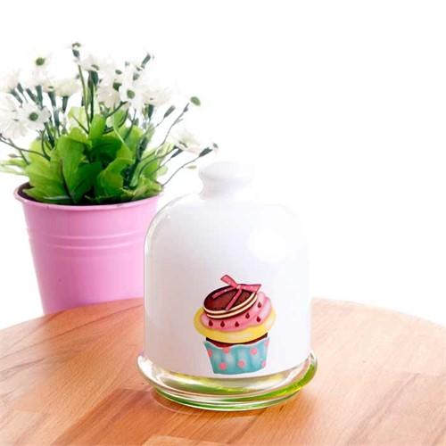 Joy Glass Reçellik Ballık Cup Cake Yeşil