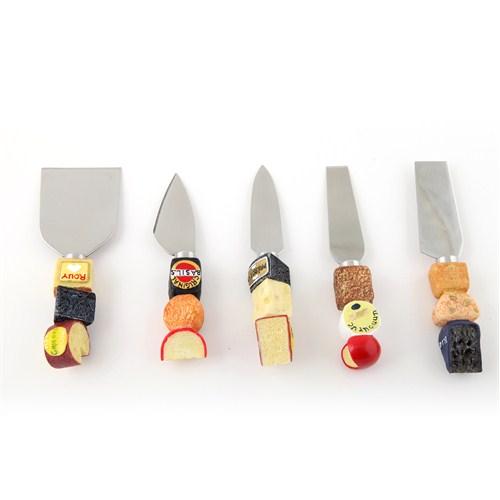 Polirezen Saplı 5'Li Peynir Bıçağı Seti
