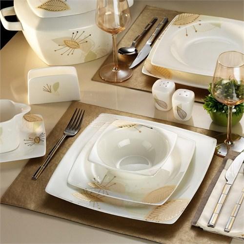 Kütahya Porselen Aliza Bone 83 Parça 65111 Desenli Yemek Takımı