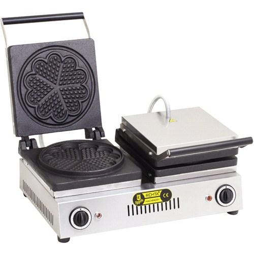Remta Çiftli Yonca Model Waffle Makinası Elektrikli-21 Cm