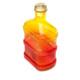Vivid Köşeli Raf Cam Damacana Sürahi 1,7 lt Sarı Kırmızı