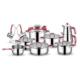 Schafer 18 Parça Compakt Çelik Çeyiz Seti Gülkurusu