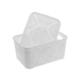 Modelüks Oya Desenli Çok Amaçlı Sepet 1,25lt. Beyaz