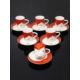 Kitchen Love Porselen Tuğralı 6 Kişilik Kahve Takımı