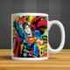 İf Dizayn Superman Baskılı Kupa Bardak