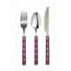 Kitchen Love 3 Adet Dekoratif Saplı-Yemek-Kaşık,Çatal,Bıçak