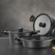 Kütahya Porselen Caprice 7 Prç Alüminyum Döküm Tencere Seti