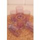 Loveq Lüx Cam 6Lı Kahve Yanı Su Bardağı