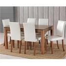 6 Sandalyeli Ortadan Acılır Masa Takımı - Hareli Ceviz