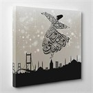 Tabloshop - İstanbul & Semazen Canvas Tablo - 60X60cm