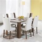 Desssenti Merzuka Yemek Odası Yemek Masası Kafkas Mese -Beyaz