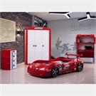 Arabalı Yatak - M3 Extreme Garaj Genç Odası - Kırmızı