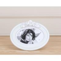 Madame Coco Oval Gül Çerçeve 19.5 X 14.5 Cm - Beige