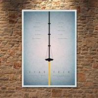 Albitablo Poster Love Star Trek Kanvas Tablo