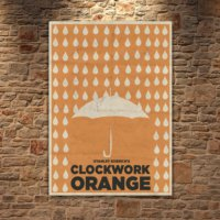 Albitablo Poster Love A Clockwork Orange 3 Kanvas Tablo