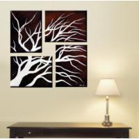 Tictac Design 4 Parçalı Kanvas Tablo Ağaç Dal